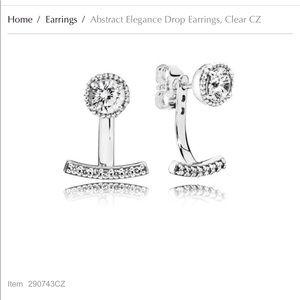 Pandora Abstract Elegance Drop Earrings